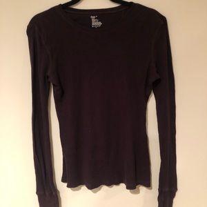 Gap long sleeve dark purple shirt- size medium